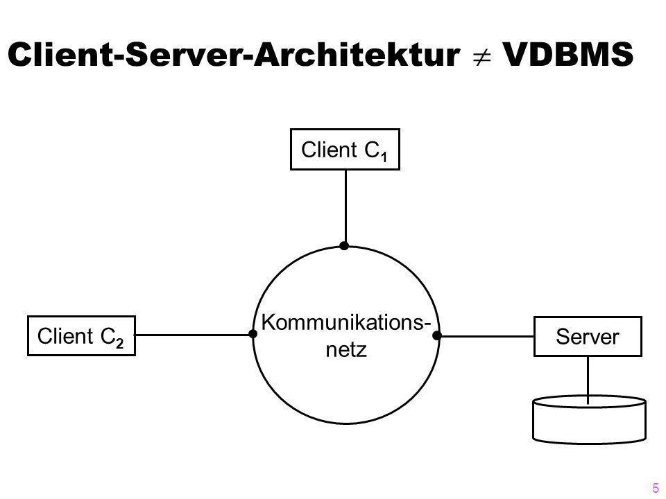 Client-Server-Architektur  VDBMS
