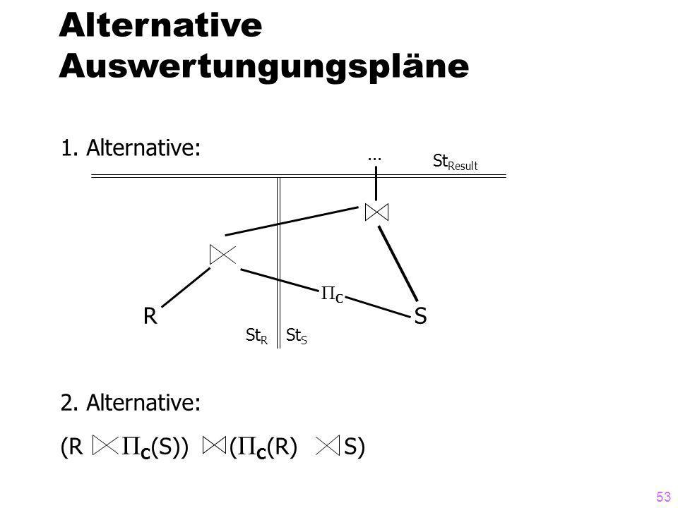 Alternative Auswertungungspläne