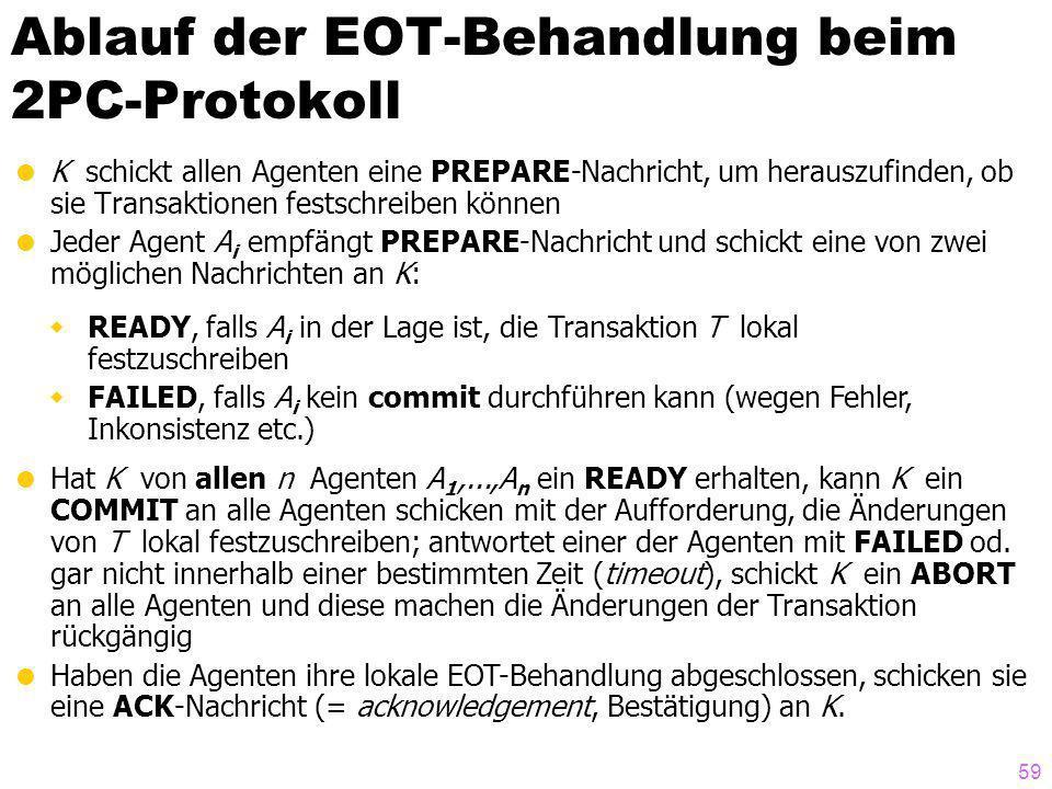 Ablauf der EOT-Behandlung beim 2PC-Protokoll