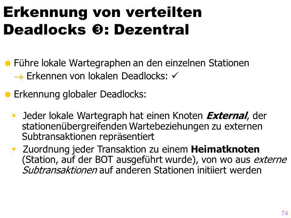 Erkennung von verteilten Deadlocks : Dezentral