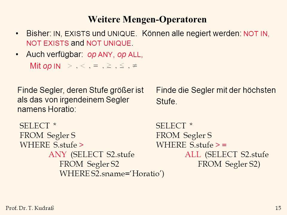 Weitere Mengen-Operatoren
