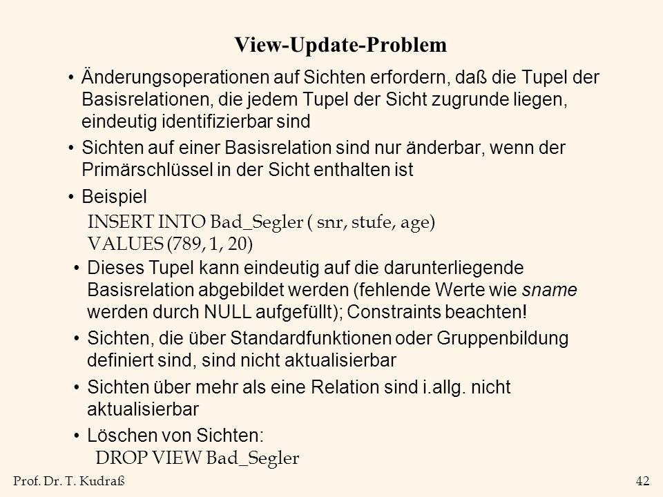 View-Update-Problem