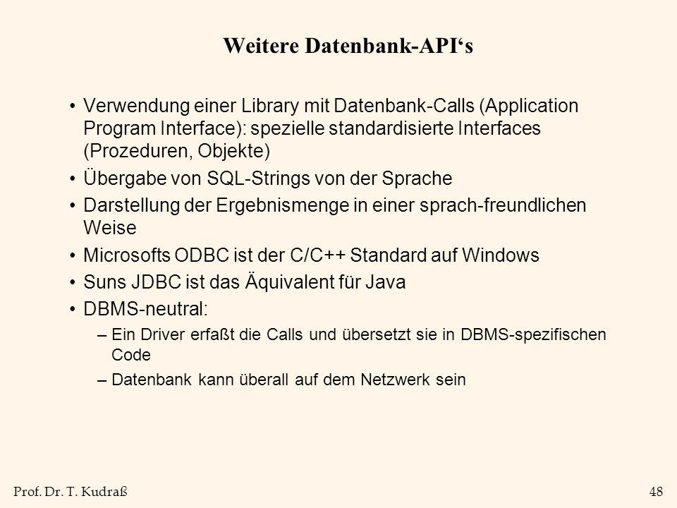 Weitere Datenbank-API's