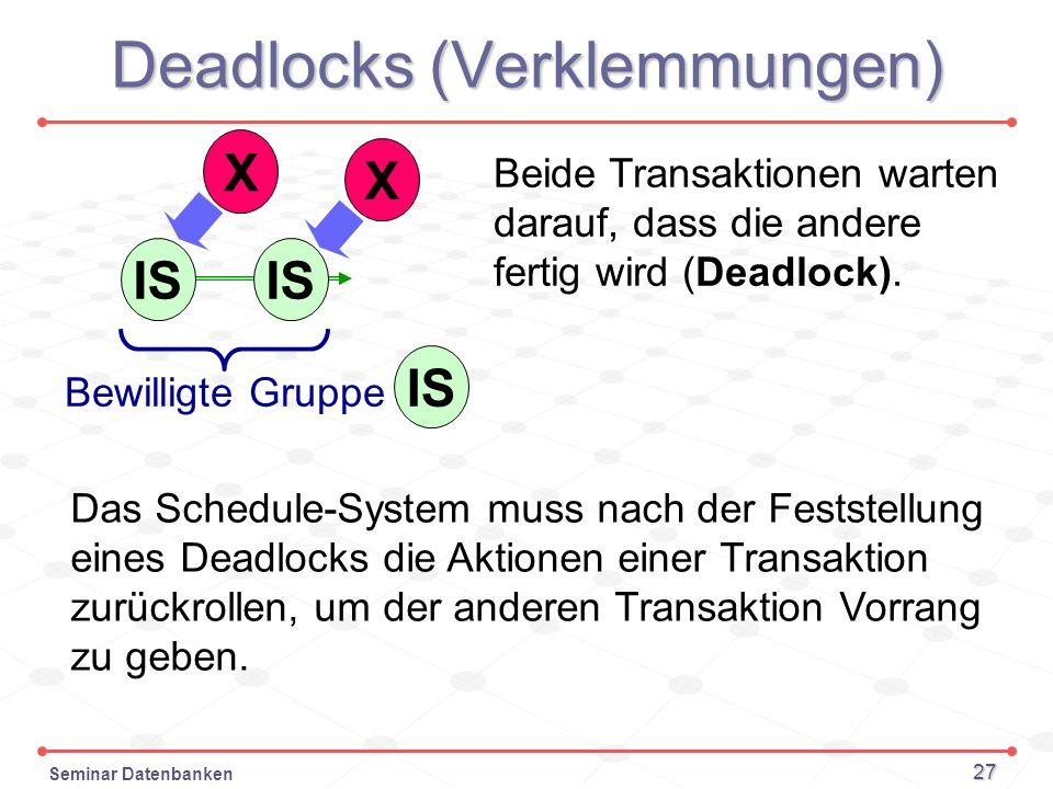 Deadlocks (Verklemmungen)