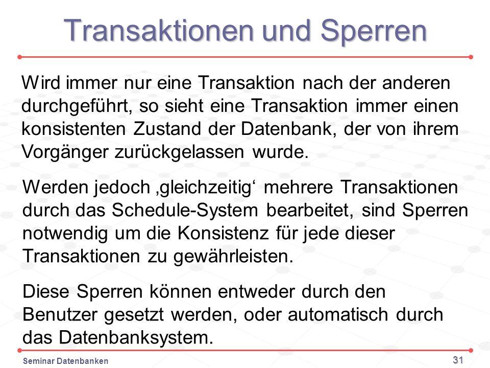 Transaktionen und Sperren
