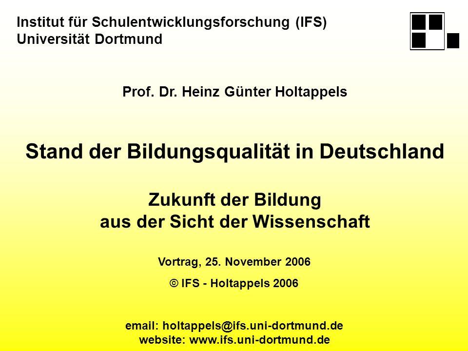 Prof. Dr. Heinz Günter Holtappels