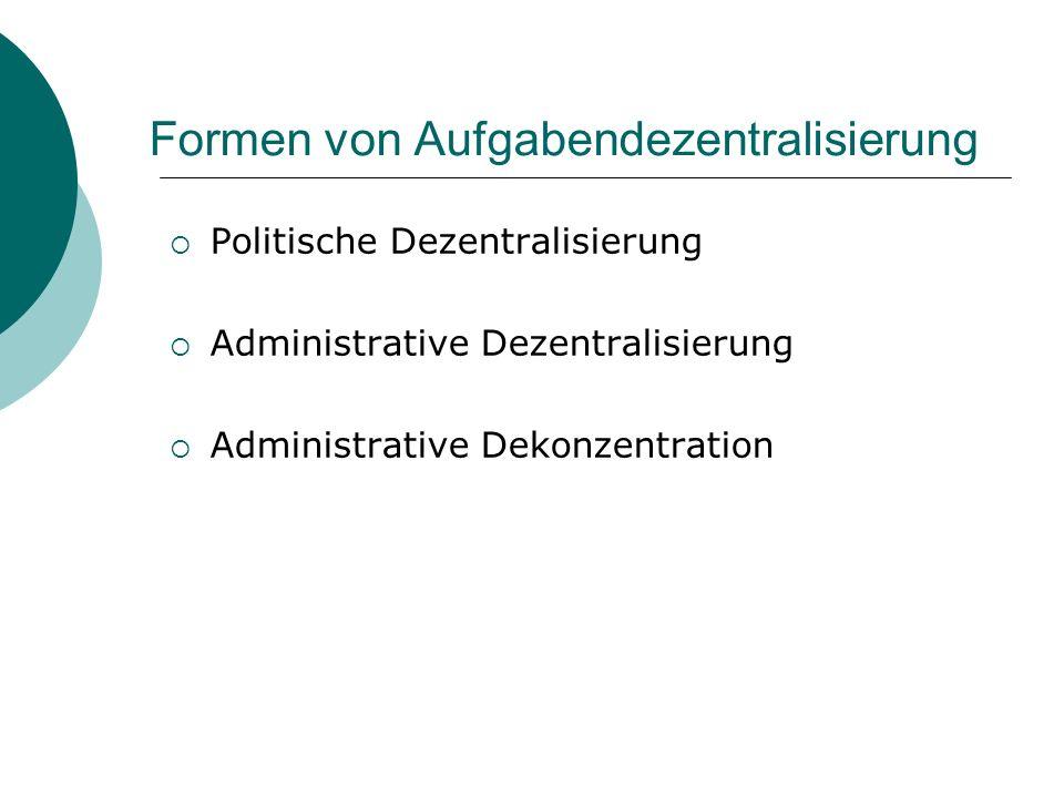 Formen von Aufgabendezentralisierung