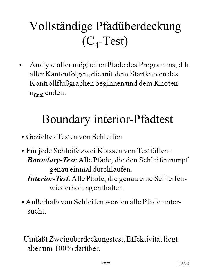 Vollständige Pfadüberdeckung (C4-Test)