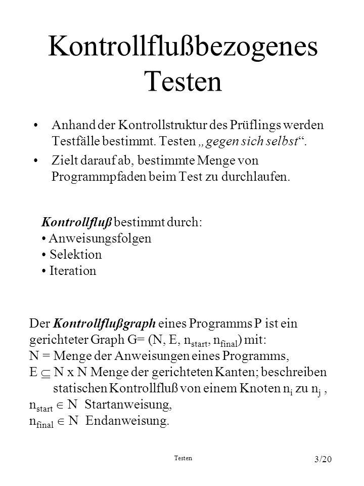 Kontrollflußbezogenes Testen