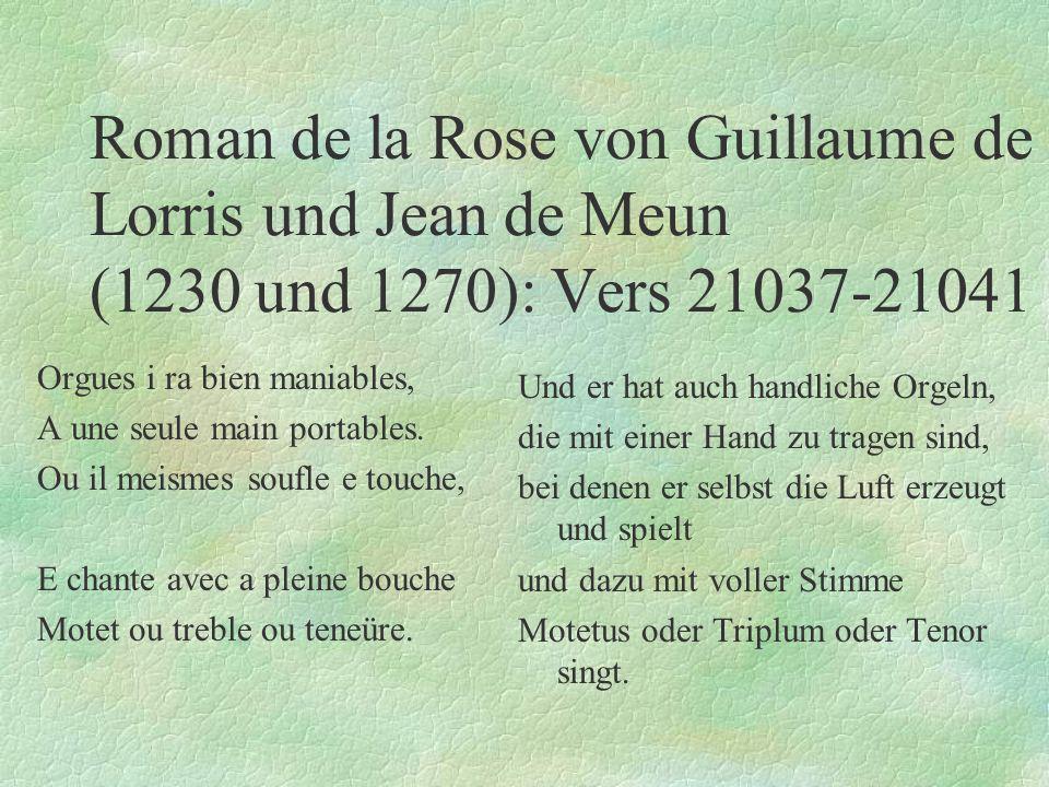 Roman de la Rose von Guillaume de Lorris und Jean de Meun (1230 und 1270): Vers 21037-21041
