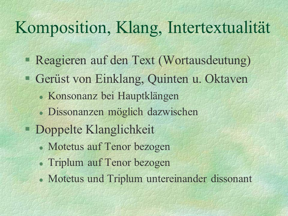 Komposition, Klang, Intertextualität