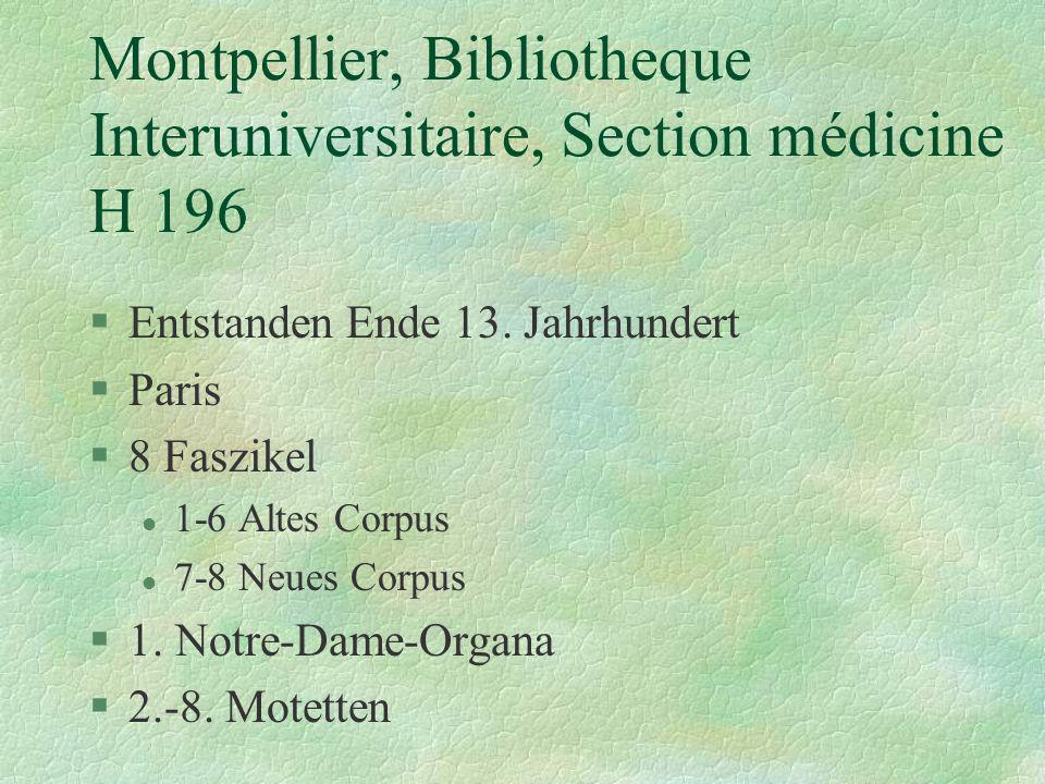 Montpellier, Bibliotheque Interuniversitaire, Section médicine H 196