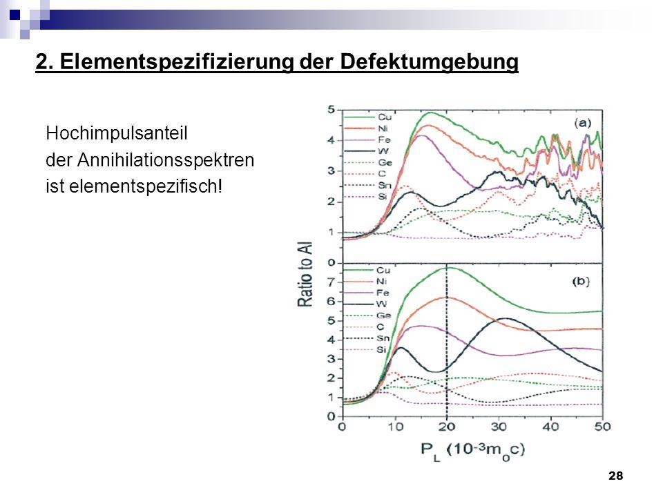 2. Elementspezifizierung der Defektumgebung