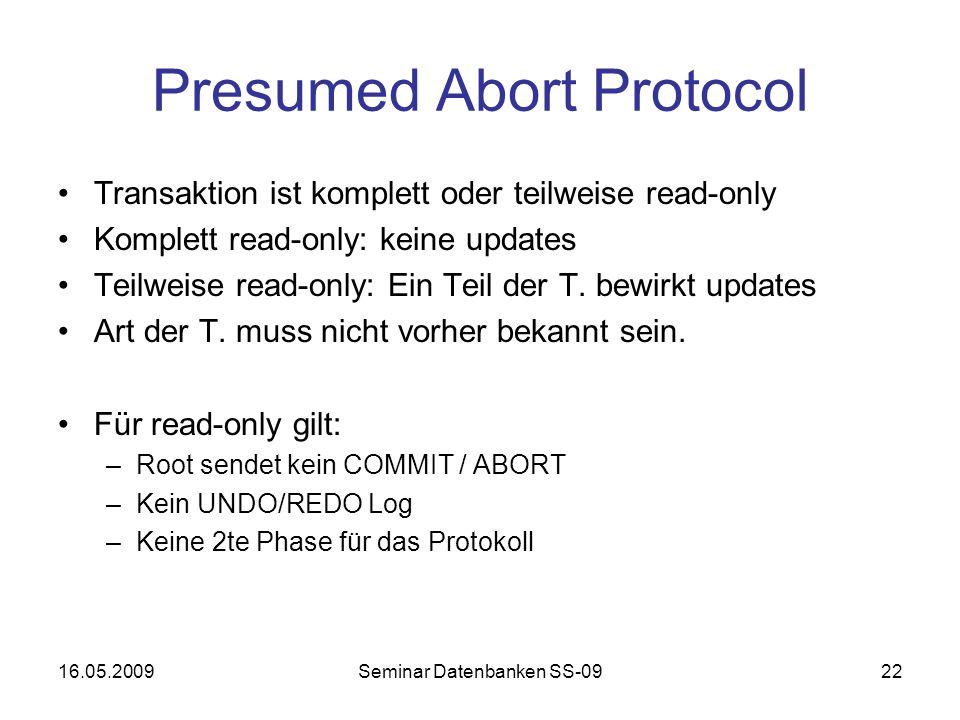 Presumed Abort Protocol