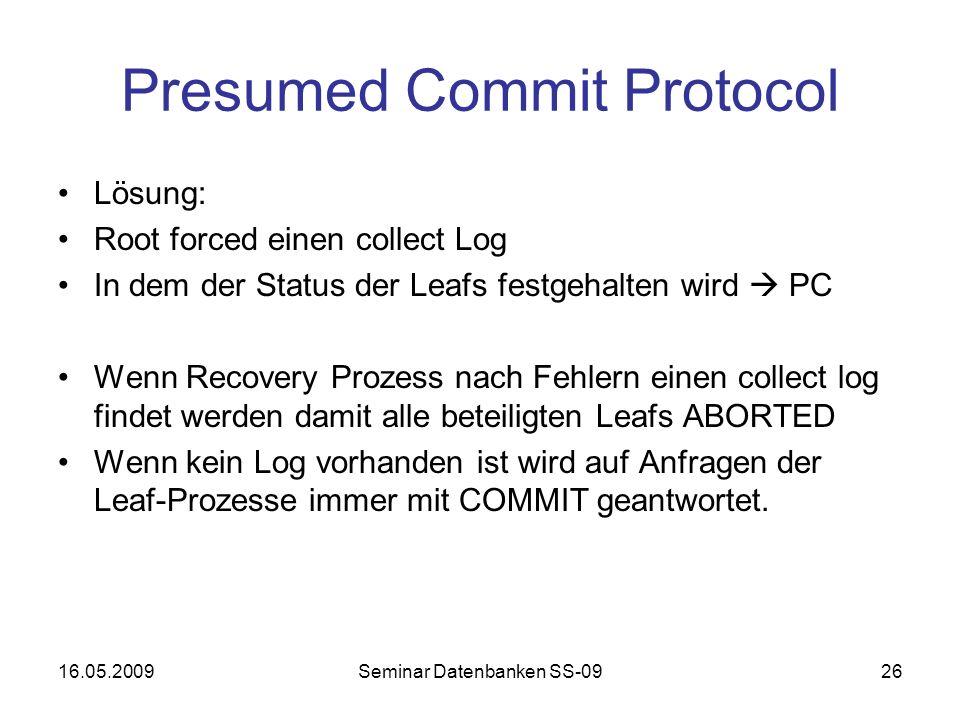 Presumed Commit Protocol