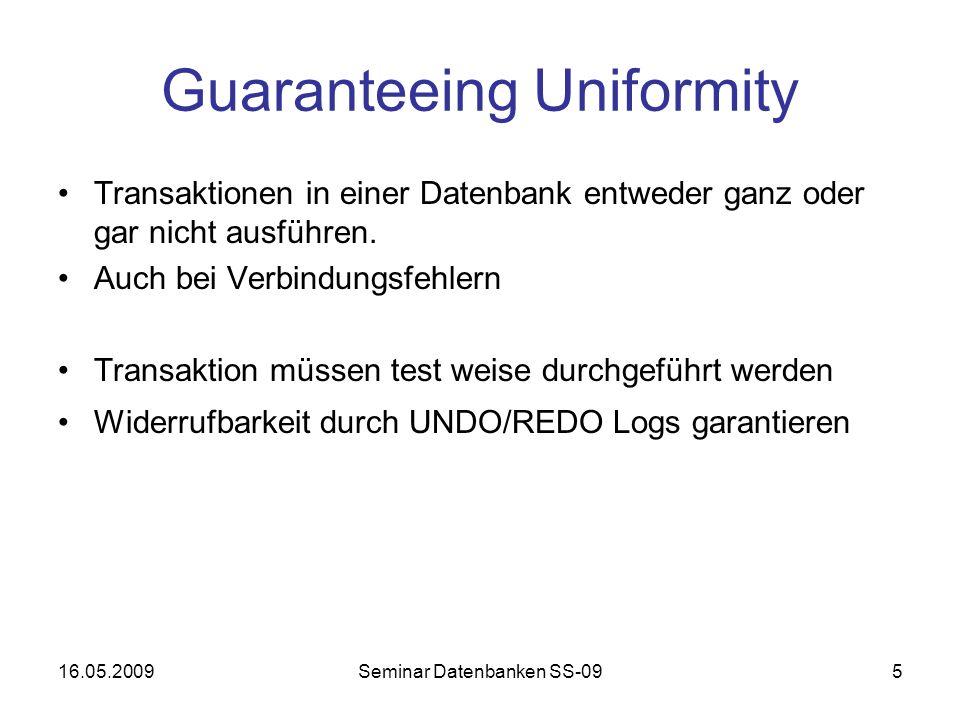 Guaranteeing Uniformity