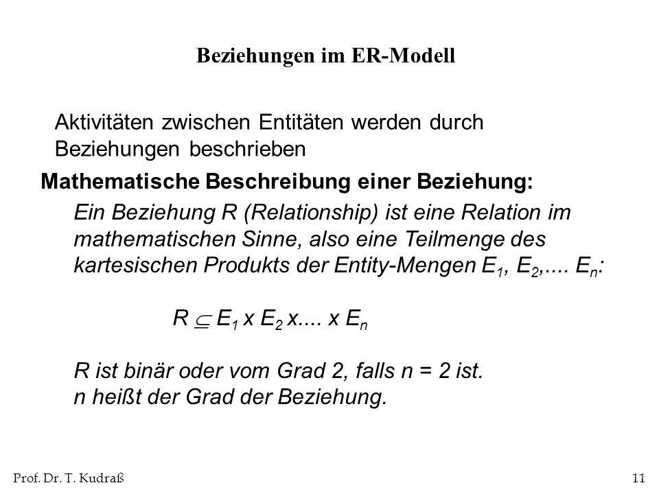 Beziehungen im ER-Modell