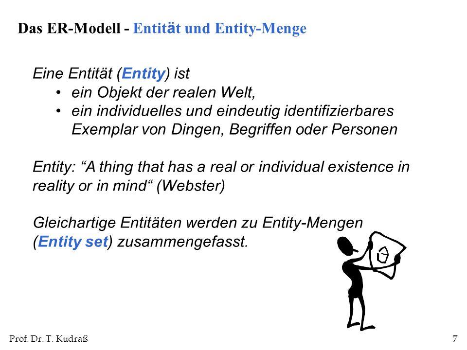 Das ER-Modell - Entität und Entity-Menge