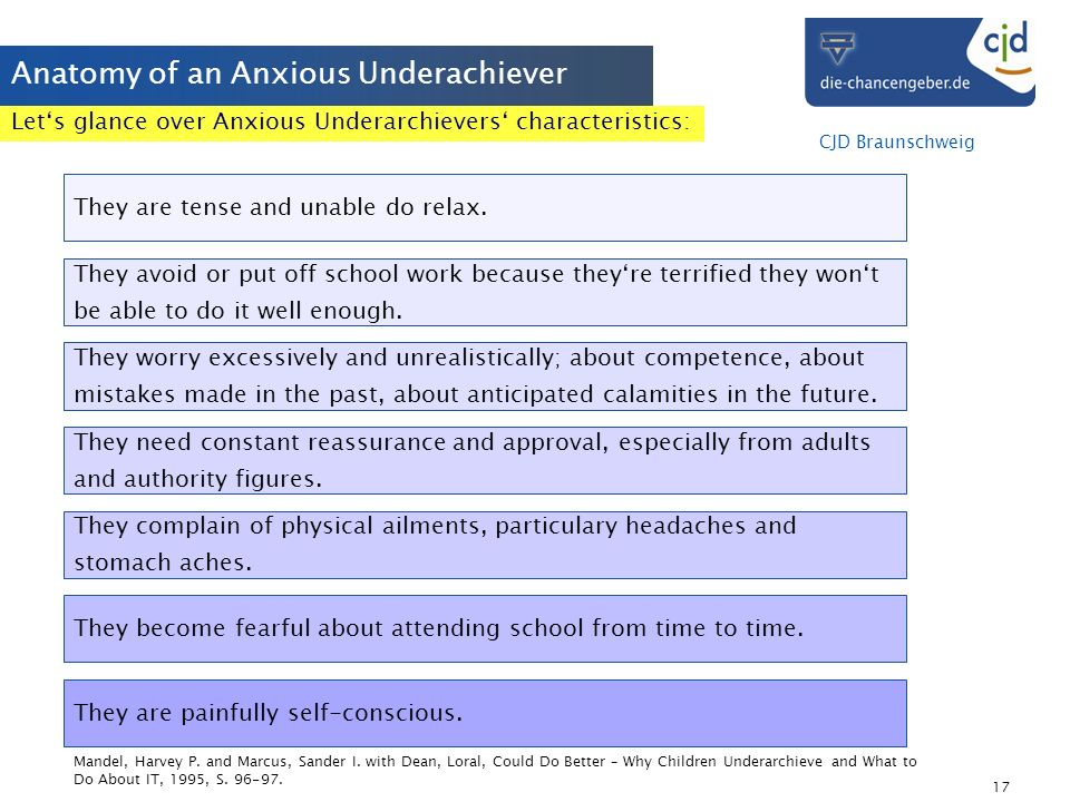 Anatomy of an Anxious Underachiever