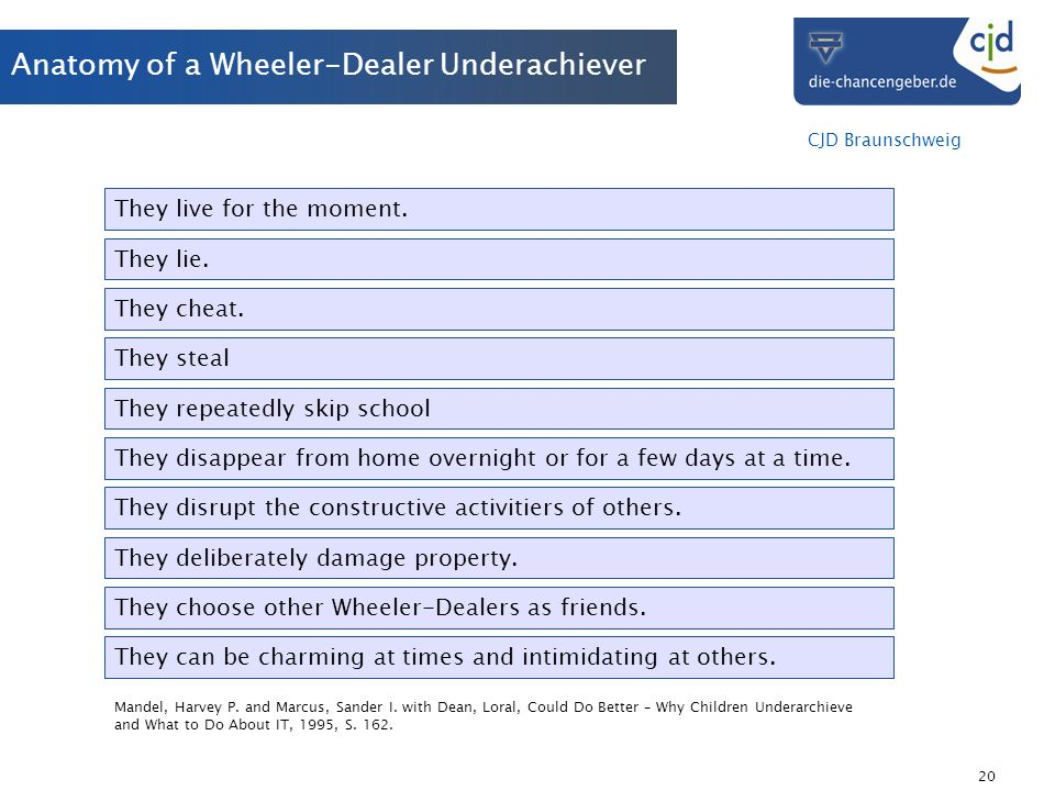 Anatomy of a Wheeler-Dealer Underachiever