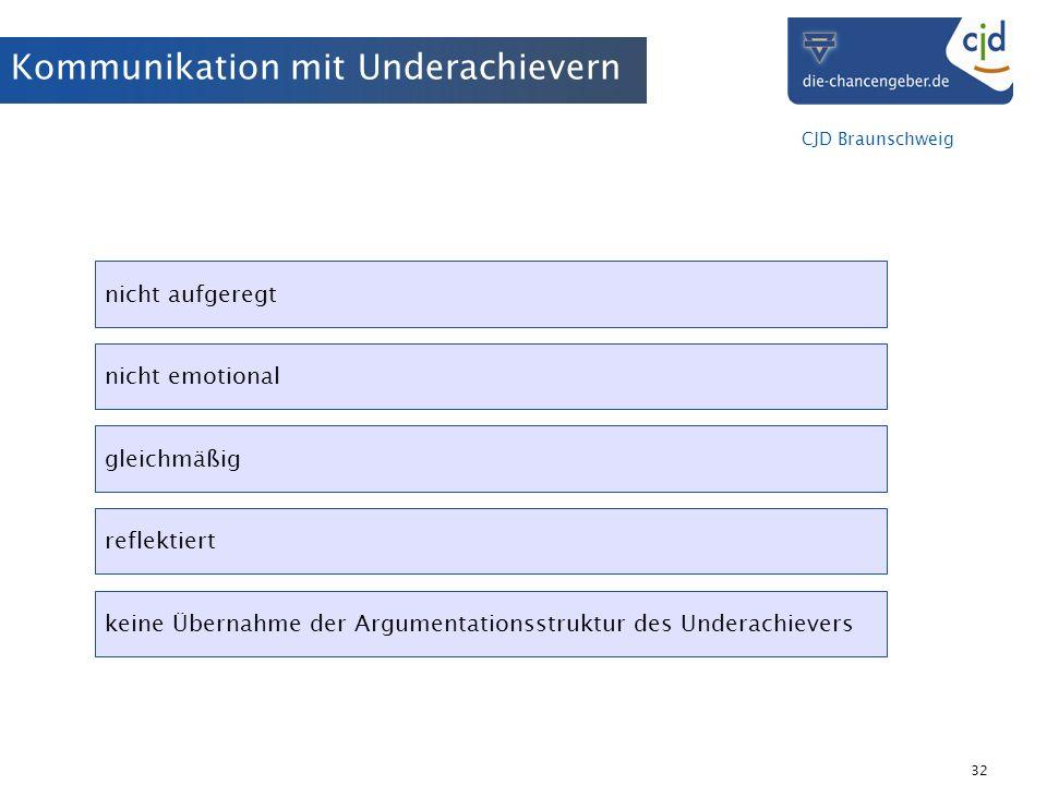 Kommunikation mit Underachievern