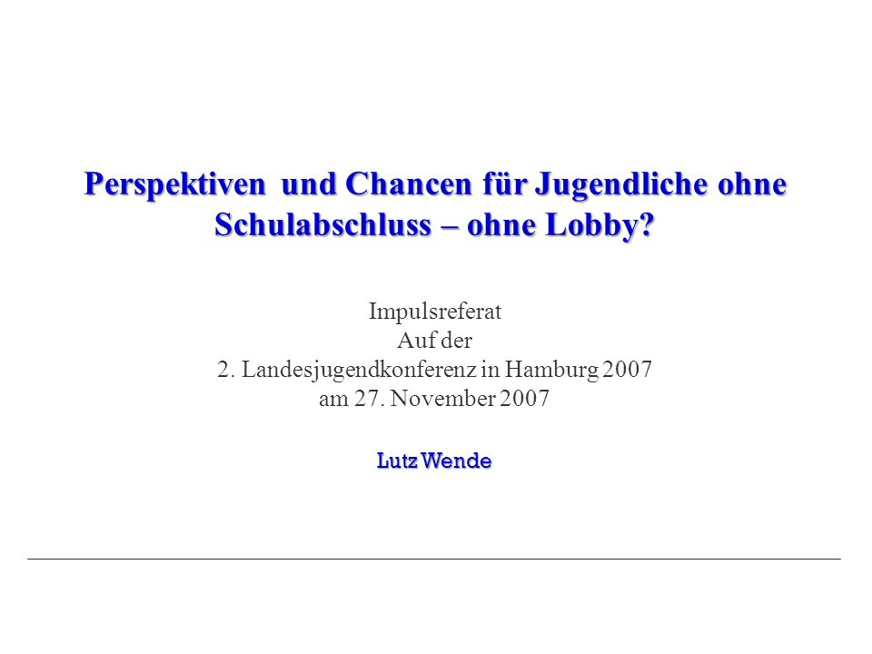 2. Landesjugendkonferenz in Hamburg 2007