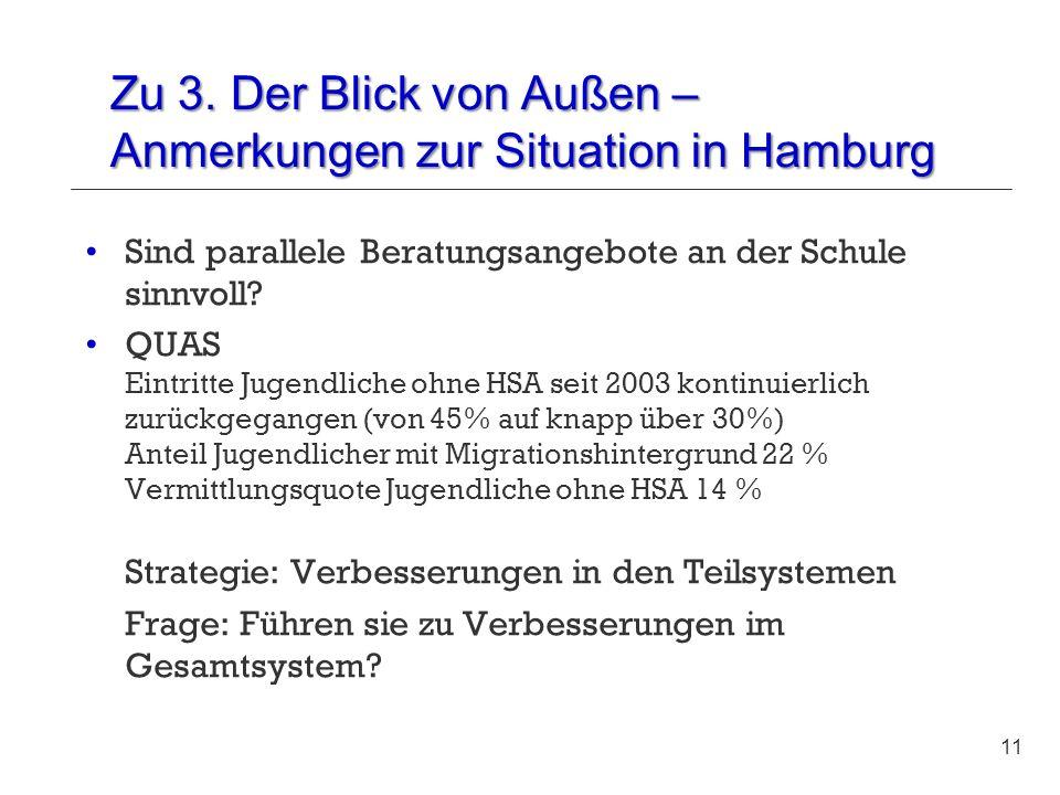 Zu 3. Der Blick von Außen – Anmerkungen zur Situation in Hamburg