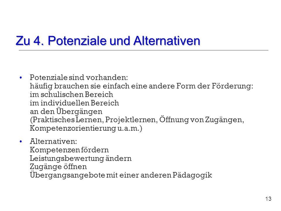 Zu 4. Potenziale und Alternativen