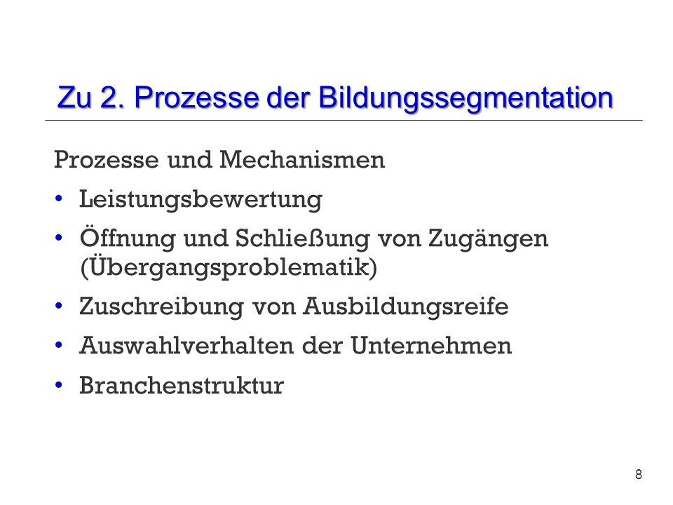 Zu 2. Prozesse der Bildungssegmentation