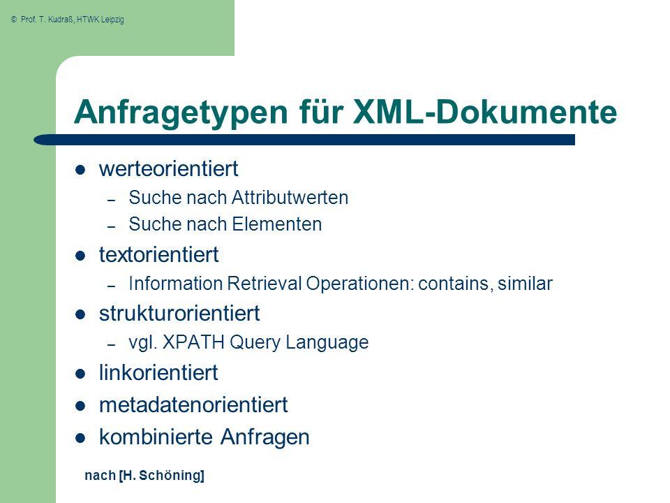 Anfragetypen für XML-Dokumente
