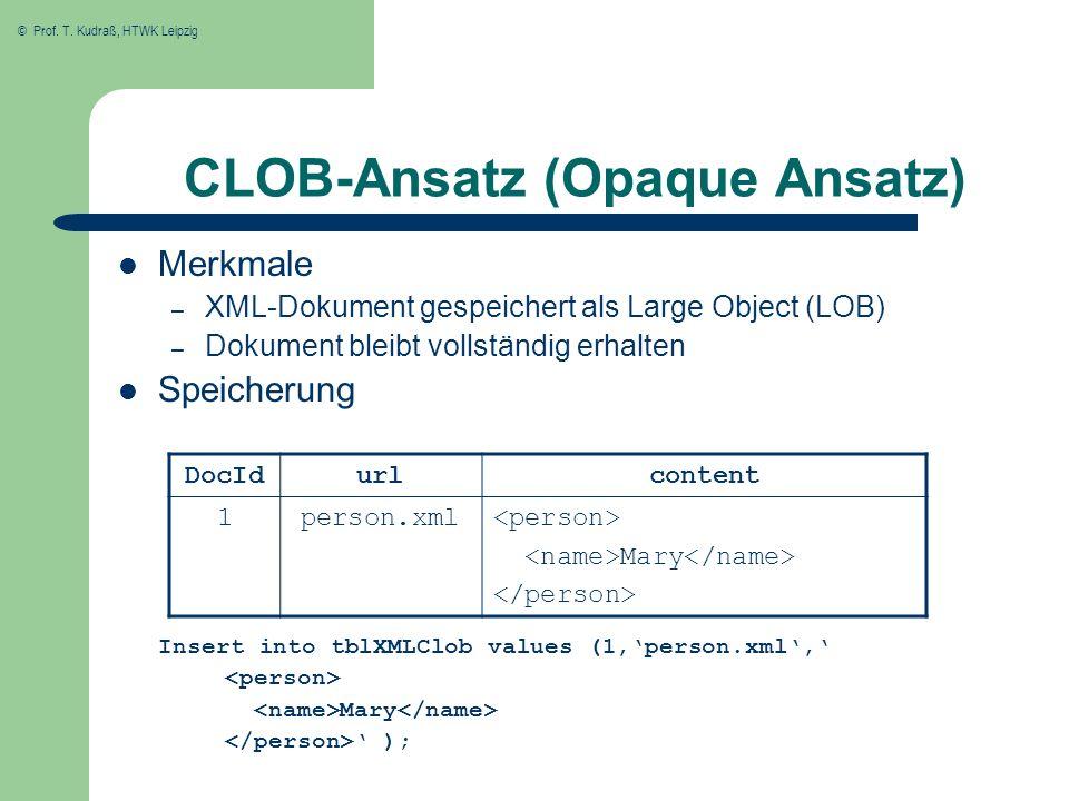 CLOB-Ansatz (Opaque Ansatz)