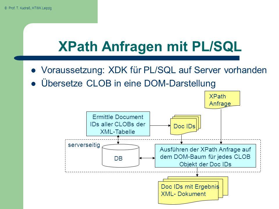 XPath Anfragen mit PL/SQL