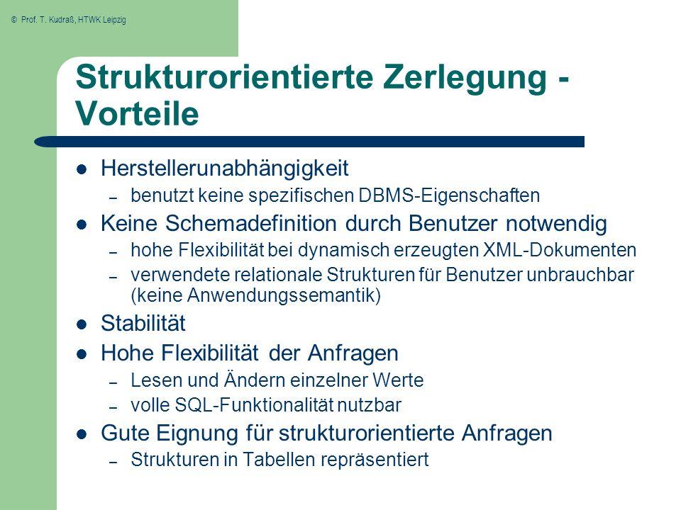 Strukturorientierte Zerlegung - Vorteile