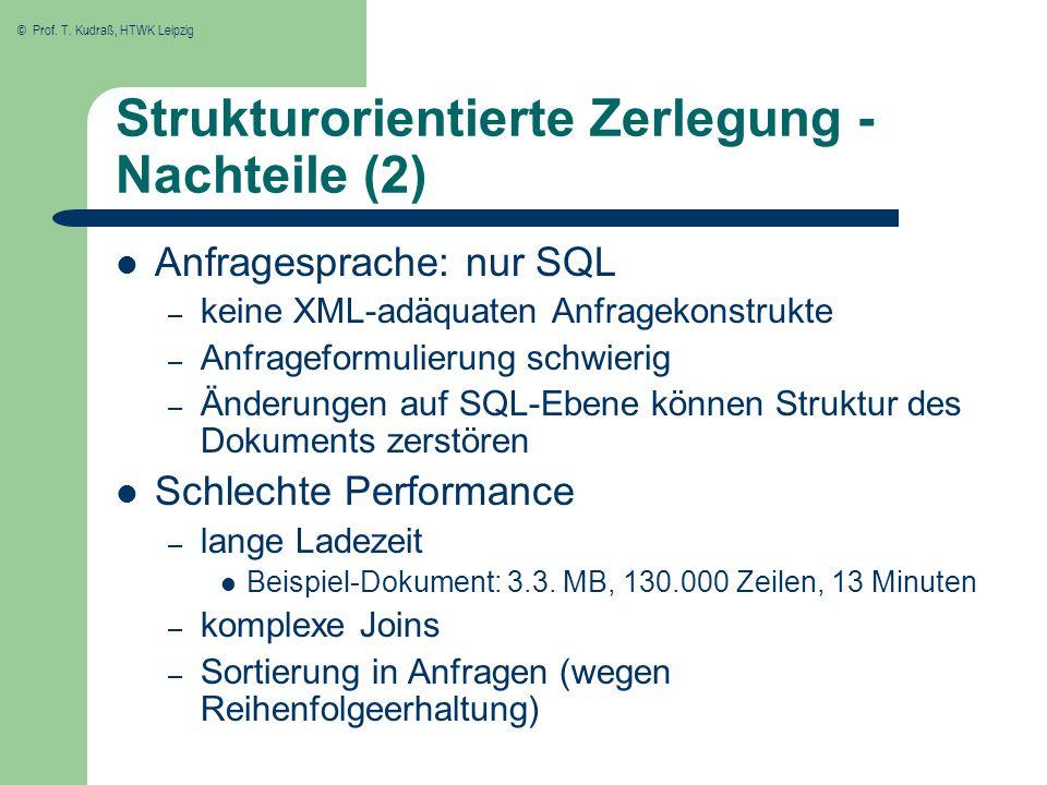 Strukturorientierte Zerlegung - Nachteile (2)
