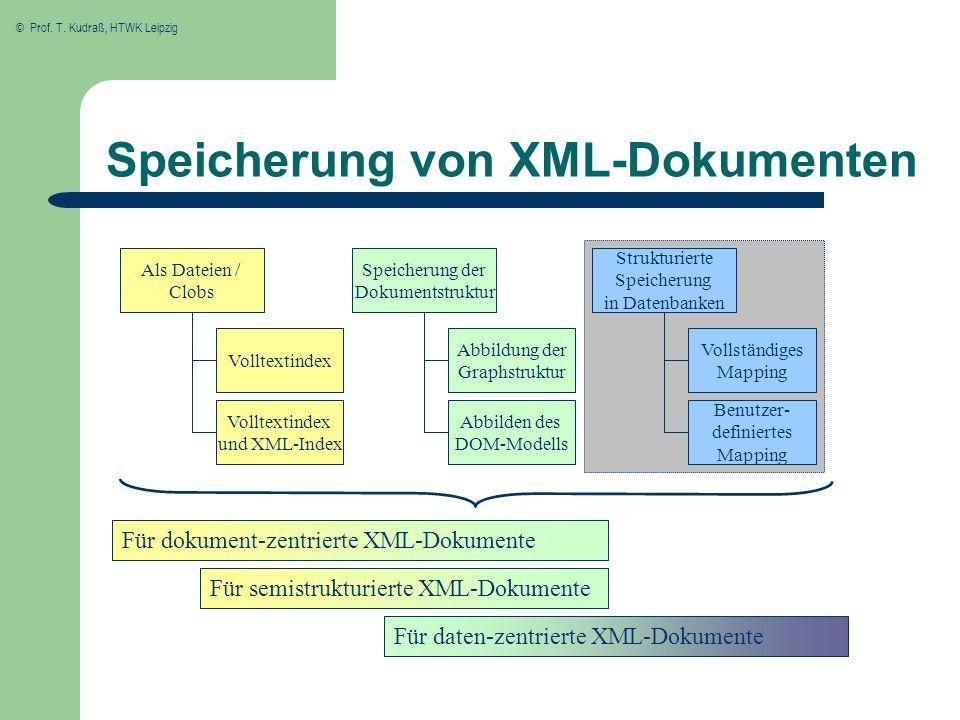 Speicherung von XML-Dokumenten