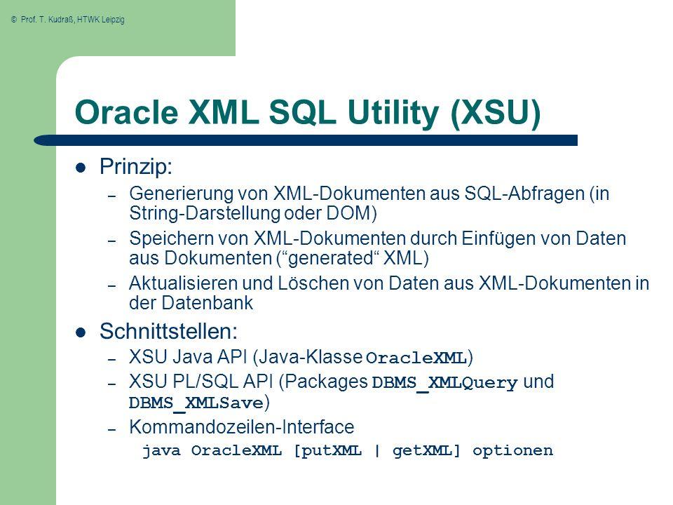 Oracle XML SQL Utility (XSU)