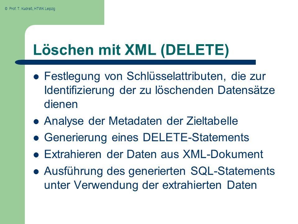 Löschen mit XML (DELETE)