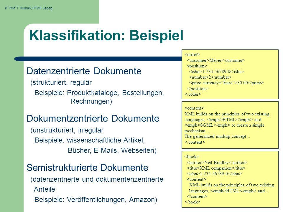 Klassifikation: Beispiel