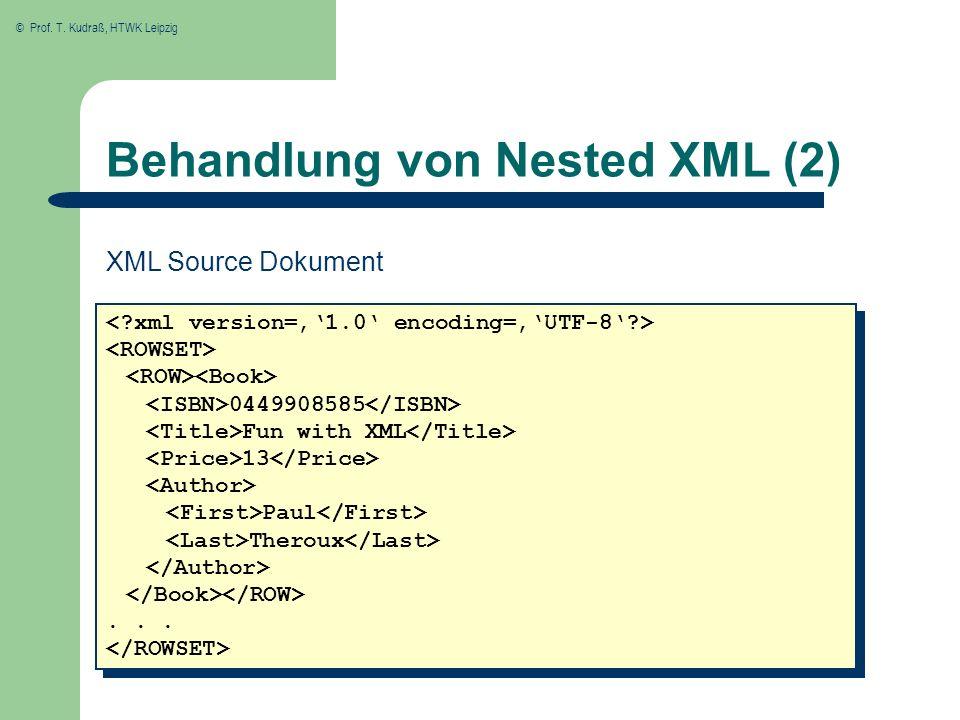 Behandlung von Nested XML (2)