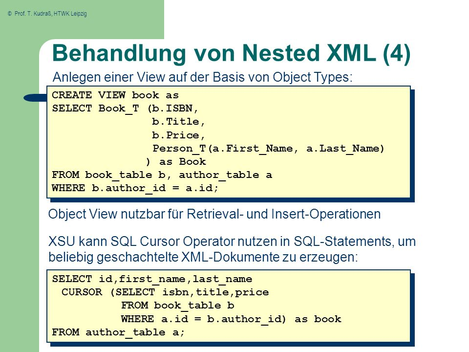 Behandlung von Nested XML (4)