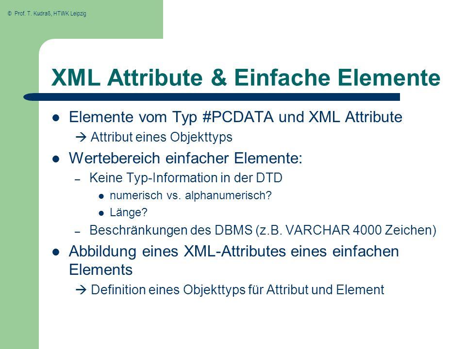 XML Attribute & Einfache Elemente