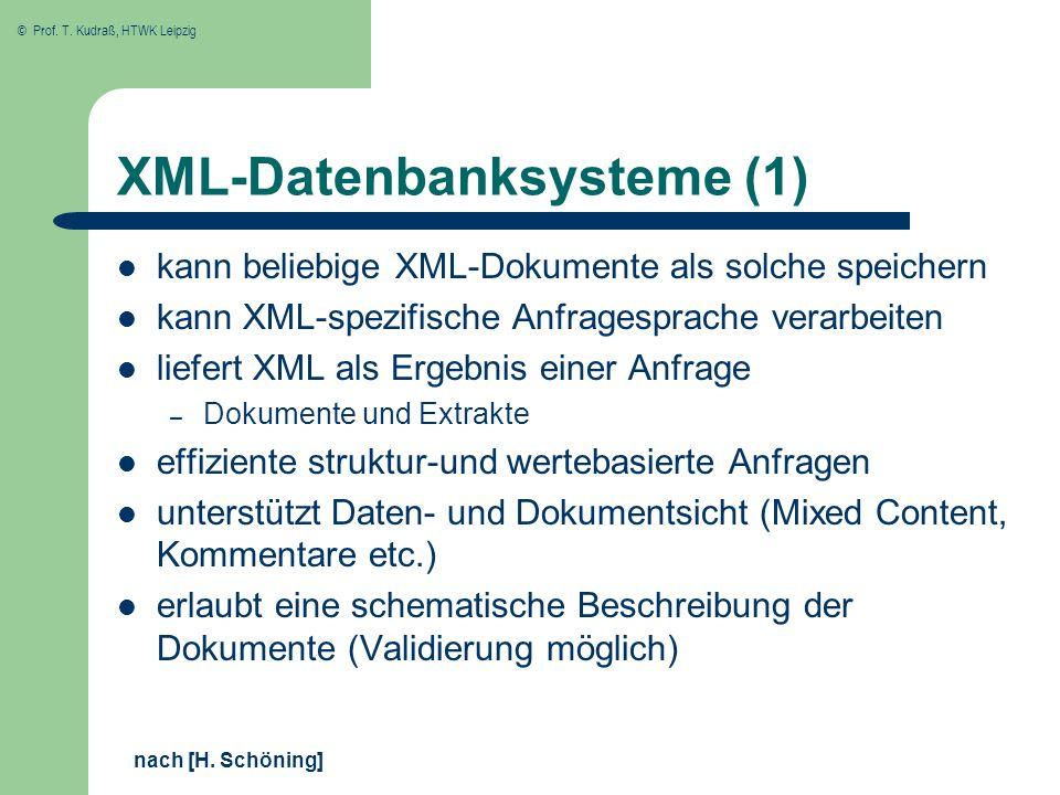 XML-Datenbanksysteme (1)