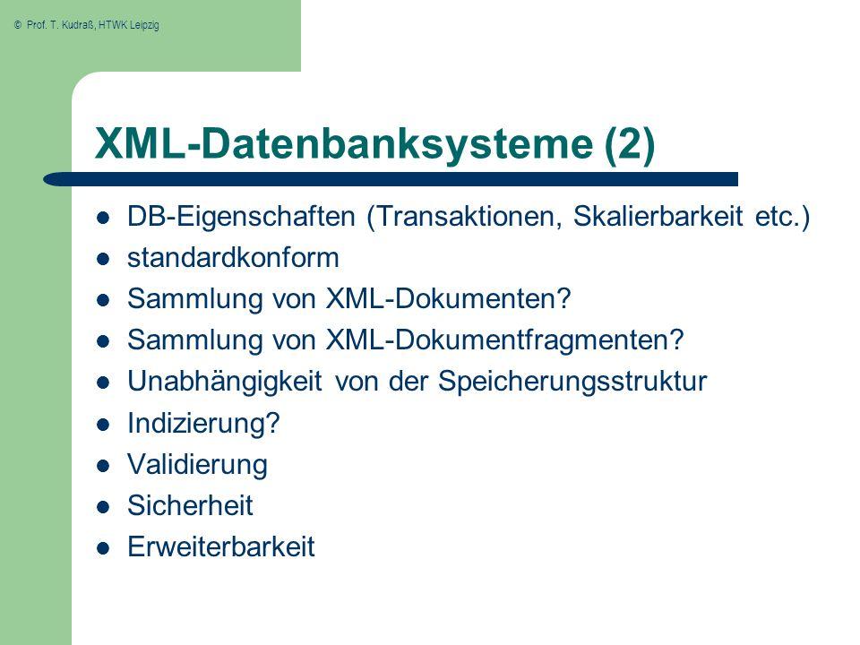 XML-Datenbanksysteme (2)