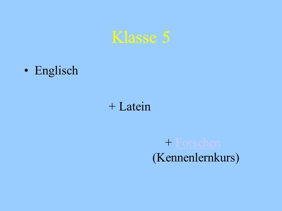 Klasse 5 Englisch + Latein + Forschen (Kennenlernkurs)