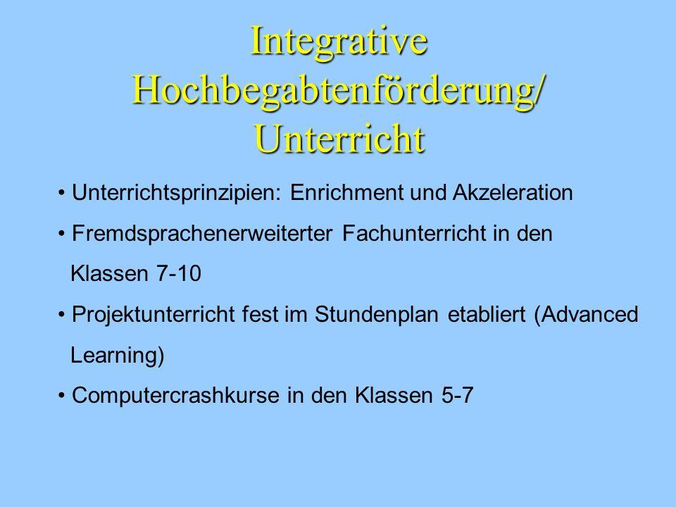 Integrative Hochbegabtenförderung/ Unterricht