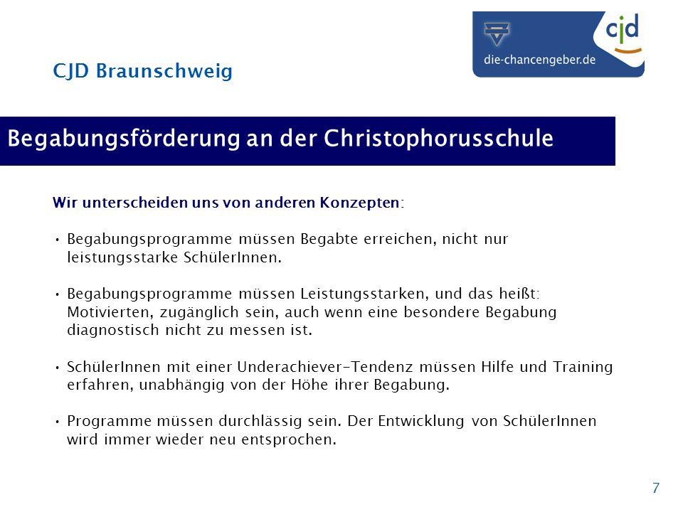 Begabungsförderung an der Christophorusschule
