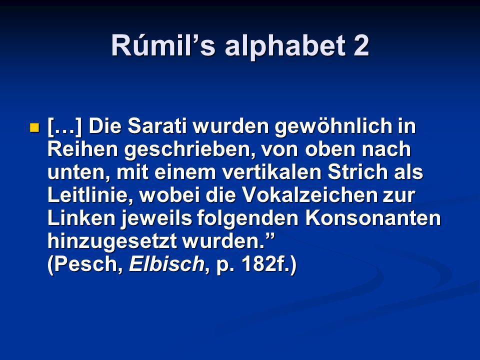 Rúmil's alphabet 2