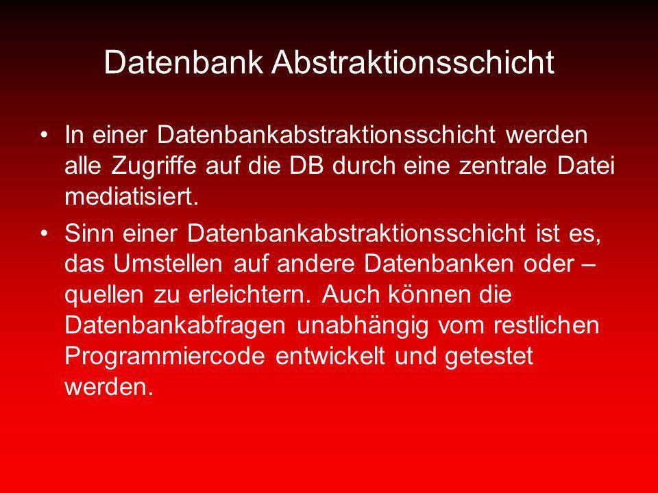 Datenbank Abstraktionsschicht