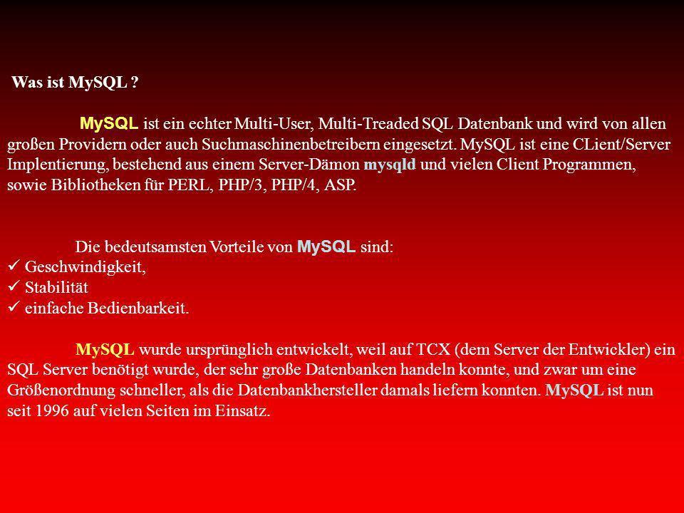 Was ist MySQL