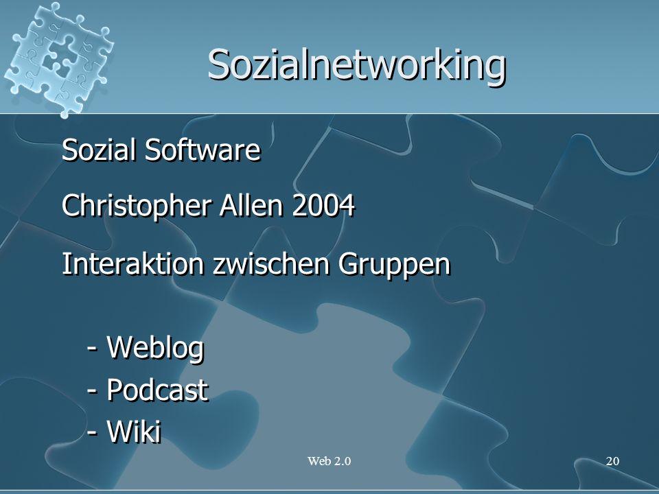 Sozialnetworking Sozial Software Christopher Allen 2004